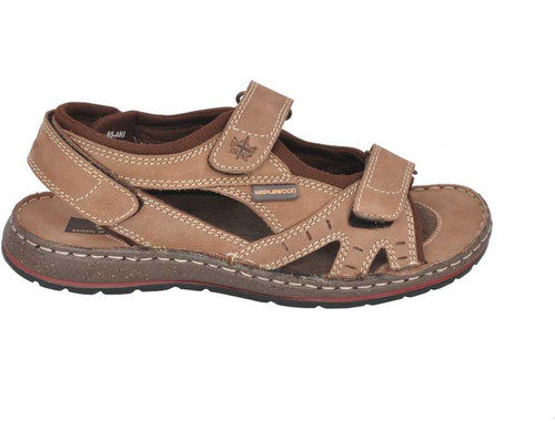 Maplewood Fisher Leather Sandals Brown
