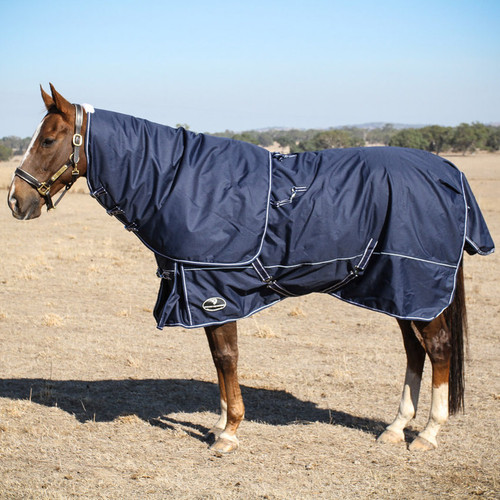 winter horse rug blanket navy