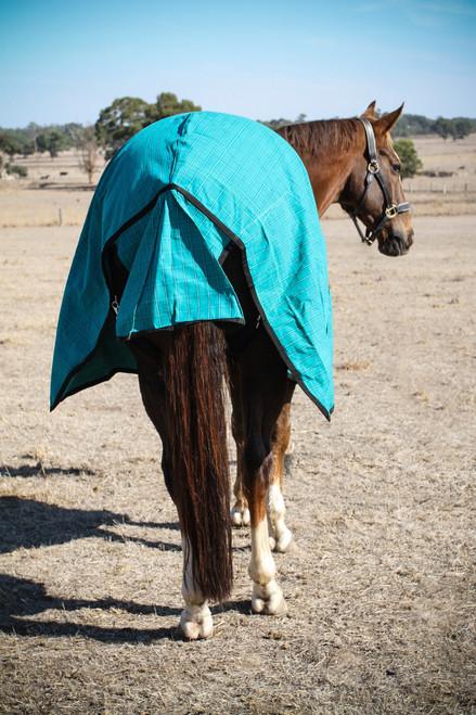 17.6oz Green Regular Canvas Horse Rug