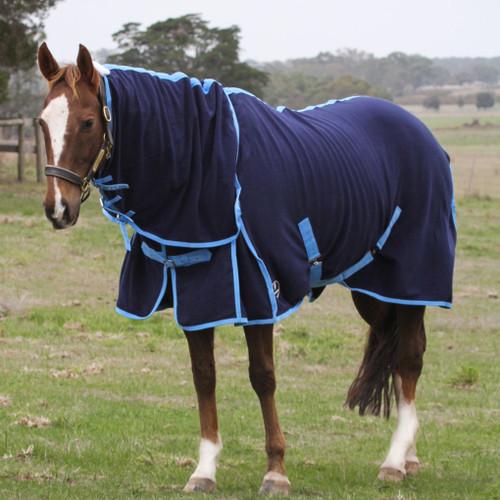 navy fleece combo rug