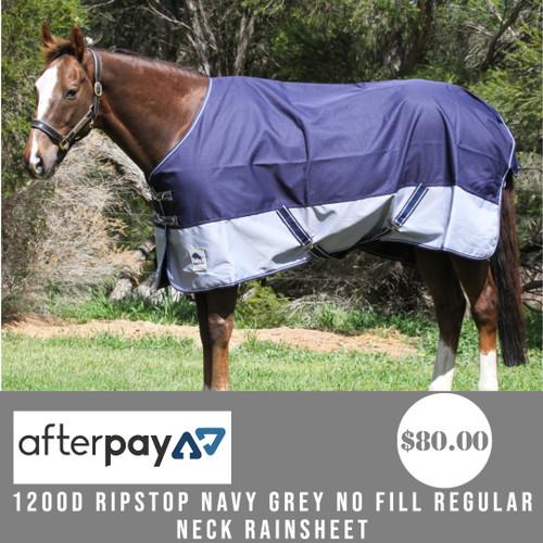 1200D Ripstop Navy Grey No Fill Regular Neck Rainsheet