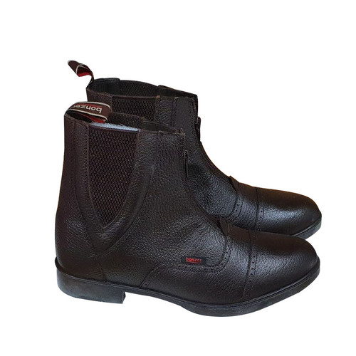 Genuine Leather Zip Front Boots 1721 Brown EU 35 ~ 46