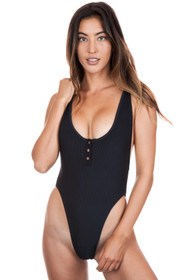 6892dba7fb FRANKIES BIKINIS Adele One Piece in Black