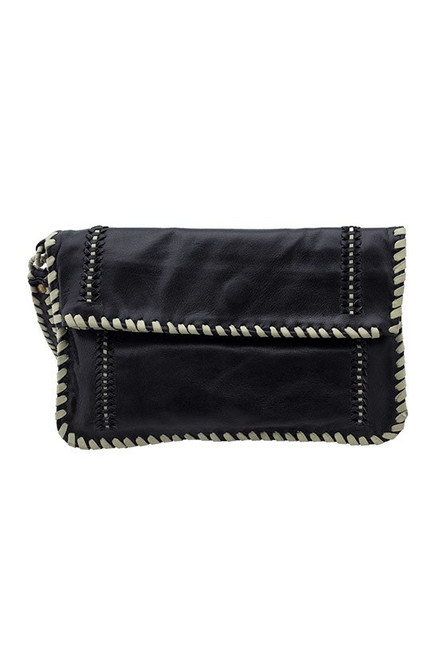 TREZO LAVI Danika Black with Slate Clutch
