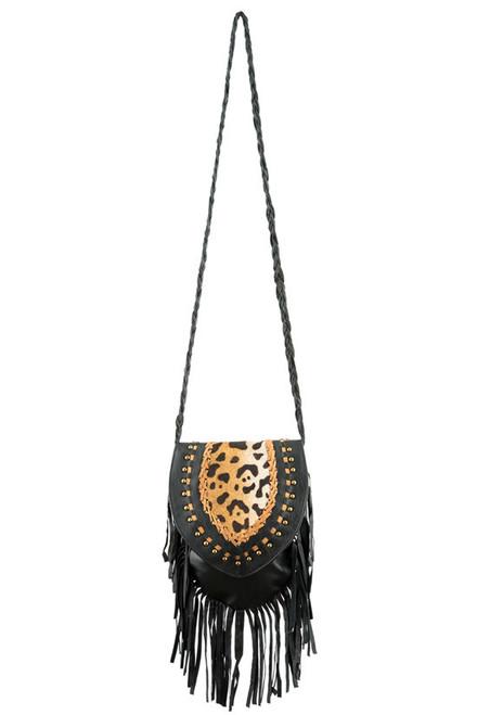 TREZO LAVI Jane Bag in Black Cheetah