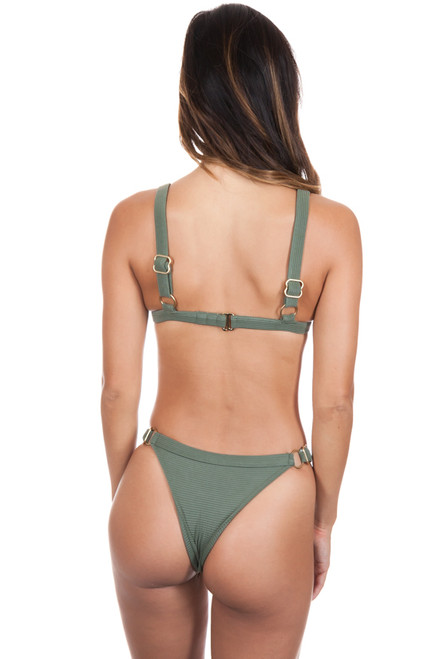 ISSA DE MAR Waimea Bottom in Olive Rib