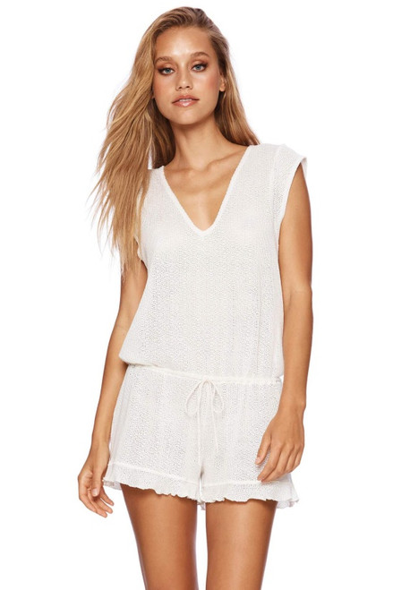 BEACH BUNNY Annika Romper in White