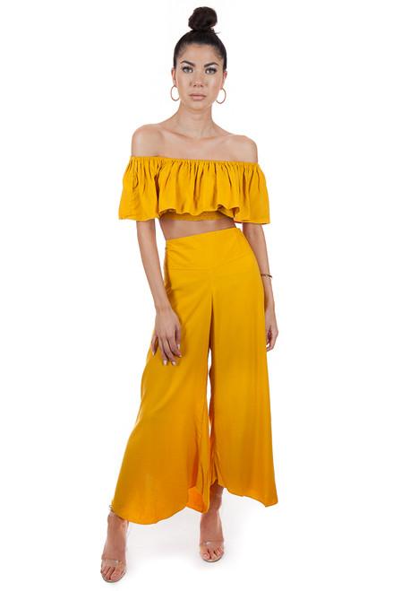 MILA THE LABEL Thai Pants in Mustard