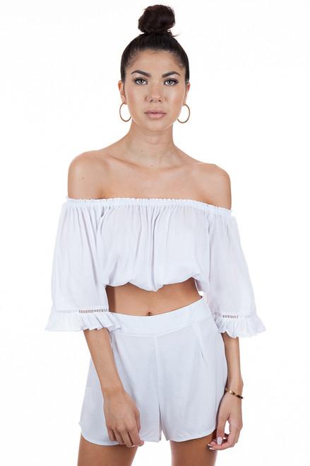 MILA THE LABEL Bela Top in White