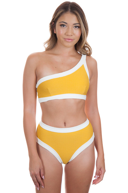 KOPPER & ZINK Marley Top in Tumeric with Cream Trim