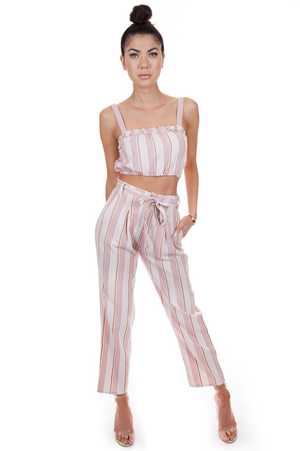 AMUSE SOCIETY Bay Bay Pants in Havana Pink