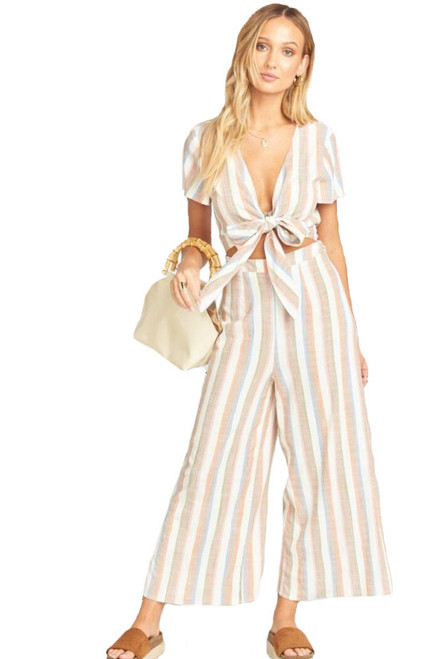SHOW ME YOUR MUMU Val Jumpsuit in Shorebert Stripe