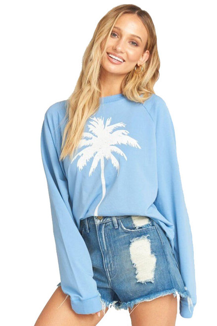 SHOW ME YOUR MUMU Simon Pullover in Palm Graphic