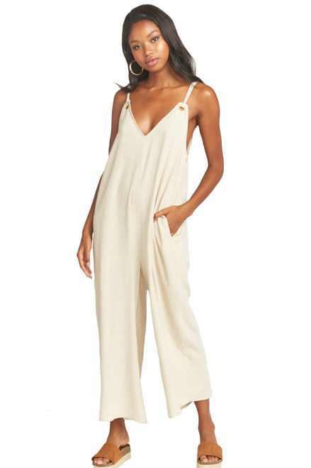 SHOW ME YOUR MUMU Jansen Jumpsuit in Cream Linen