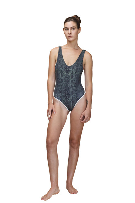 ACACIA Palm Springs One Piece in Sage Python