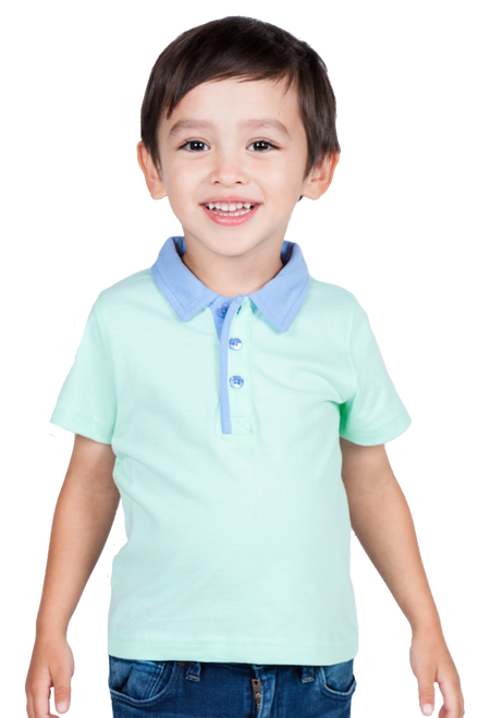 LONDONBERRY Kingsley Short Sleeve Polo Shirt in Green