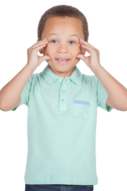 LONDONBERRY Emery Short Sleeve Polo Shirt in Green