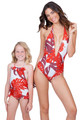 MIKOH MINI Kids Sainte Marine One Piece in Vintage Tahaiti Lehua