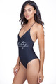 AMUSE SOCIETY Society One Piece in Jet Black
