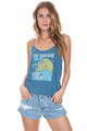 AMUSE SOCIETY Suns Out Tank in Riviera Blue