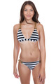 BLUE LIFE Buckled Tri Top in Stripe