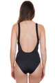 SOLID AND STRIPED Jennifer One Piece in All Black