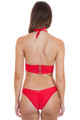 BEACH BUNNY Hard Summer Long Line Tri Top in Red