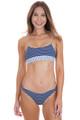BEACH BUNNY Angela Skimpy Bottom in Navy / White Stripe