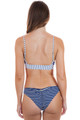 BEACH BUNNY Emerson Bralette Top in Navy / White Stripe