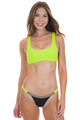 BEACH BUNNY Sutton Bralette Top in Lime