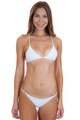ACACIA Ribbed Shaka Top in White