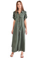 TRIYA Long Dea Chemise in Military Green