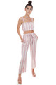AMUSE SOCIETY Catch My Drift Woven Top in Havana Pink