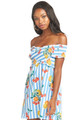 SHOW ME YOUR MUMU Mandy Smocked Dress in Fruit Basket Stripe Poplin