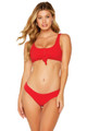 BEACH BUNNY Rib Tide Tango Bottom