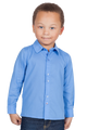 LONDONBERRY Hudson Long Sleeve Button Up Shirt in Blue
