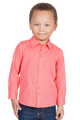 LONDONBERRY Hudson Long Sleeve Button Up Shirt in Coral
