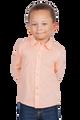 LONDONBERRY Hudson Long Sleeve Button Up Shirt in Peach