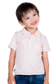 LONDONBERRY Rylee Short Sleeve Polo Shirt in Pink