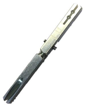 "Bouvet 4966-106 Swivel Spindle For Entrance Mortise Lock C7x106mm 2 1/4"" Door"