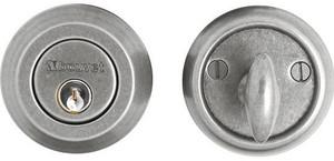 """Bouvet 8301-60-012 Deadbolt 2-3/8"""" Backset 1-3/4"""" Thick Door Single Cylinder Pewter Bouvet 8973 15 12 LaForge 8973 15 12"""