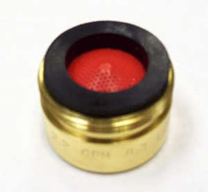 Phylrich M501S/003 (Dime Size) 1.2 gpm, 13/16 inch Aerator for Lavatory Faucet in Polished Brass