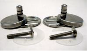 Duravit 0061381000 Steel Hinge set for Happy D, Starck 1, 2, and 3 Duavit Seats, spcifically, the 006389, 006588(v1), and 006699 Duravit Soft Close Seats