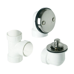 MOUNTAIN PLUMBING BDWPLTA/CPB ABS 6640 2 HOLE FACE PLATE WASTE FITTING FOR PLUMBERS HALF KIT, POLISHED CHROME