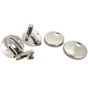 DURAVIT 0061631000 HINGE-SET FOR SEAT AND COVER WITH OR WITH OUT SOFT CLOSE, STAINLESS STEEL