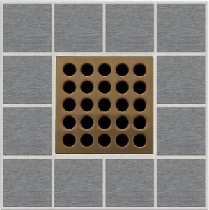 "EBBE E4408 3.75"" GRATE IN BRUSHED BRONZE"