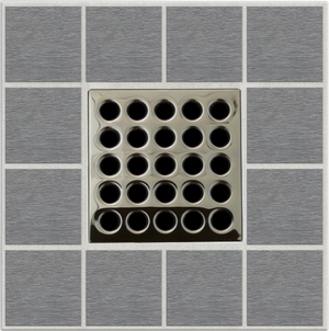 "EBBE E4409 3.75"" GRATE IN POLISHED NICKEL"
