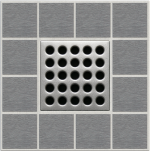 "EBBE E4410 3.75"" GRATE IN SATIN NICKEL"