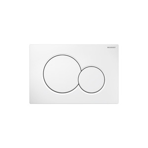 GEBERIT 115.770.11.5 SIGMA01 DUAL-FLUSH PLATES FOR SIGMA SERIES IN-WALL TOILET SYSTEMS ALPINE WHITE