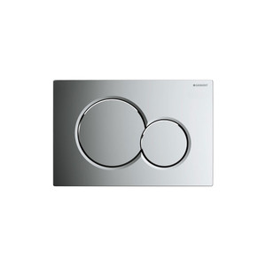 GEBERIT 115.770.21.5 SIGMA01 DUAL-FLUSH PLATES FOR SIGMA SERIES IN-WALL TOILET SYSTEMS POLISHED CHROME